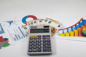 50 billets en euros avec statistiques et calculatrice photo