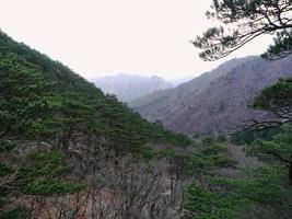 belles montagnes en corée du sud photo