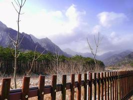 coréen belles montagnes seoraksan photo