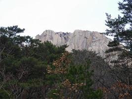 beaux rochers en corée du sud photo