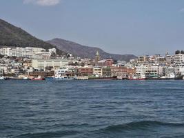 panorama de la mer à la ville de yeosu photo