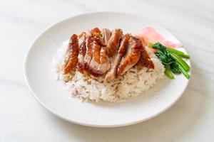 canard rôti sur riz photo