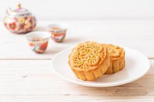 gâteau de lune chinois sur plaque photo