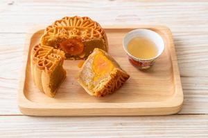gâteau de lune chinois saveur durian et jaune d'oeuf photo