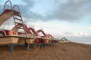 plage vide à rimini, italie photo