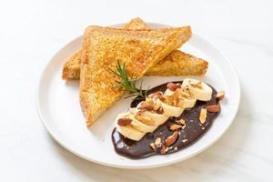 pain perdu aux amandes chocolat banane photo