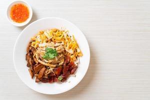 nouilles chinoises au poisson cuites à la vapeur photo