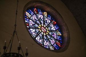 rosace église de l'église de san francesco photo