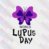 illustration vectorielle d & # 39; un fond pour la journée mondiale du lupus photo