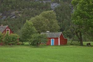 le village d'eidfjord en norvège photo