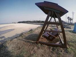 la balançoire sur l'île de jeju. Corée du Sud photo