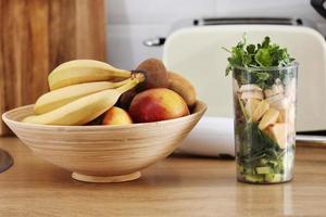 fruits écrasés pour smoothie photo