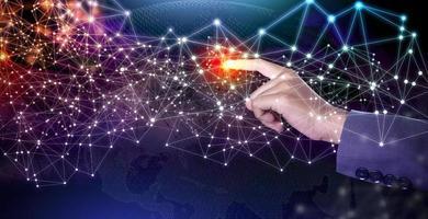 futur concept de communication sans fil intelligence artificielle ai photo