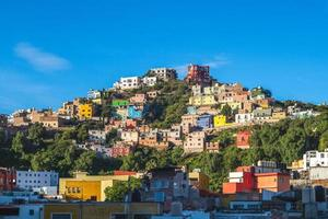 paysage de la ville de guanajuato au mexique photo