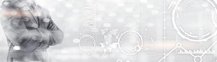 bannière de site Web, tableau de bord d'investissement. diagramme graphique stock trading fond d'affaires transparent. photo