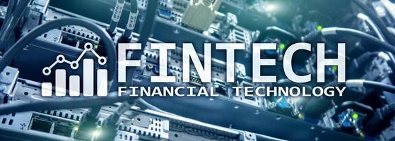 fintech - technologie financière. développement de solutions d'affaires et de logiciels. photo