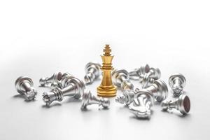 victoire au jeu d'échecs, concept de réussite commerciale photo