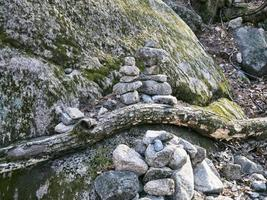 pierres d'équilibre à seoraksan photo