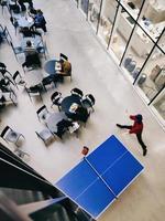 tennis de table bleu photo