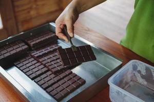 chocolat noir et cacao maison photo