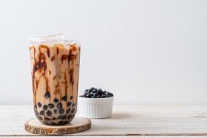 thé au lait de taïwan avec bulle photo