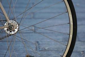 rayons de roue de bicyclette photo