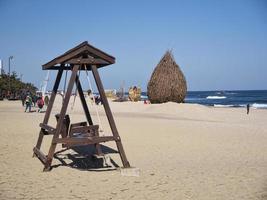 la plage de la ville de gangneung, corée du sud photo