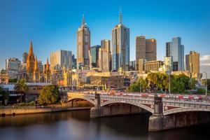 Horizon de la ville de Melbourne à Victoria, Australie photo