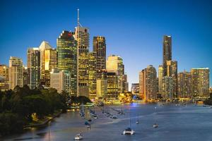 Horizon de Brisbane dans le Queensland, Australie photo