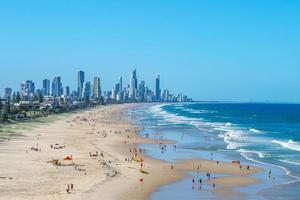 paysage de paradis du surf sur la Gold Coast à Brisbane photo