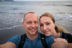 un selfie à la plage de kamakura photo