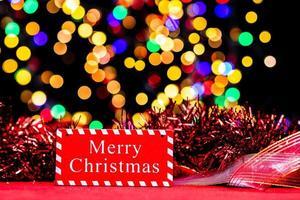 décoration de noël, fond de vacances de noël et du nouvel an photo