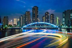 Horizon de tsukishima à tokyo la nuit photo