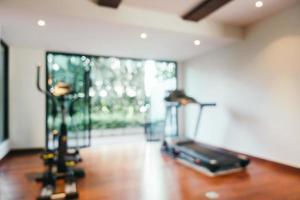 équipement de gym et de fitness flou abstrait photo