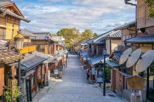 vue sur la rue de kyoto au printemps photo