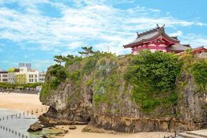 paysage du sanctuaire de naminoue à okinawa photo