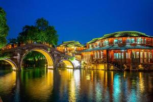 paysage urbain de wuzhen, une ville pittoresque historique en chine photo