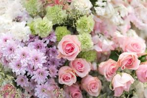 fleur de mariage mixte, fond floral multicolore photo