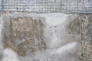 vue de dessus de la chaussée en béton, texture de la surface du sentier photo