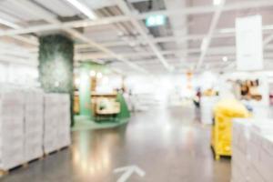 décoration de meubles flou abstrait et magasin d'entrepôt photo
