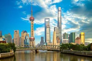 Horizon de Pudong, Shanghai, Chine photo