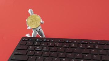 crypto-monnaie bitcoin. monnaie numérique du futur photo