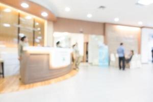 hôpital et clinique flou abstrait photo