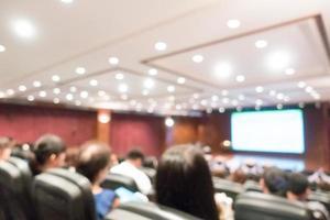 flou abstrait salle d'audience et réunion de conférence photo