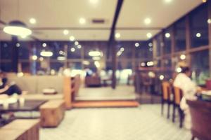 café et restaurant flou abstrait photo
