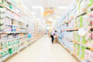 Abstrait flou et bokeh supermarché et magasin discount photo