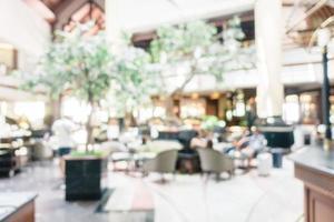 flou abstrait et hôtel de luxe défocalisé et intérieur du hall photo