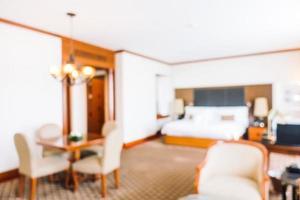 flou abstrait et décoration défocalisée à l'intérieur de la chambre d'hôtel photo