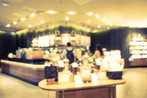flou abstrait et intérieur de restaurant et café défocalisé photo