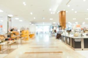 flou abstrait et centre commercial défocalisé de l'intérieur du magasin deparment photo